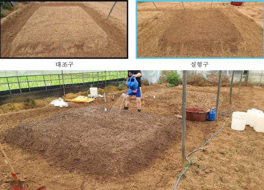 친환경 미생물을 통한 유해농약 제거 실험을 진행한 비닐하우스 내 토양. <사진=코엔바이오>