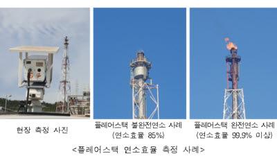 환경과학원, 석유화학 공장 굴뚝 연소효율 높여 배기가스 감소 지원