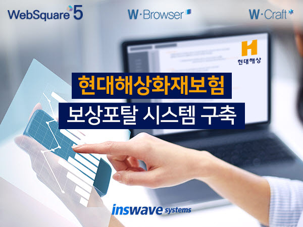 인스웨이브시스템즈, 현대해상 보상포털 시스템 구축…영업 현장 경쟁력 강화 웹 표준 도입