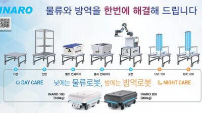 """인아텍, 복합로봇 '인아로(INARO)' 출시… """"언택트 시대 물류와 방역을 로봇 하나로"""""""