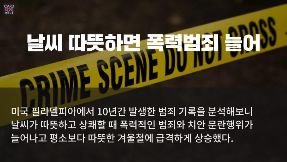 [카드뉴스]날씨와 범죄의 상관관계
