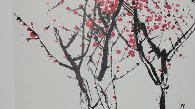 {htmlspecialchars('묵으로 그려낸 매화 향기'…한국화가 박명임 개인전)}
