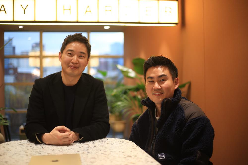사진 왼쪽부터 김영하 스퍼셀 대표, 박정규 쇼피파이 한국총괄