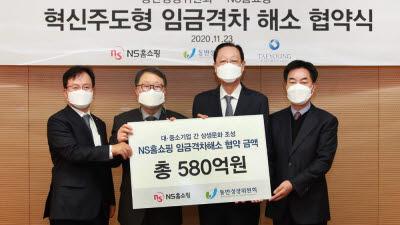 NS홈쇼핑, 혁신주도형 임금격차 해소 위해 3년간 580억원 지원