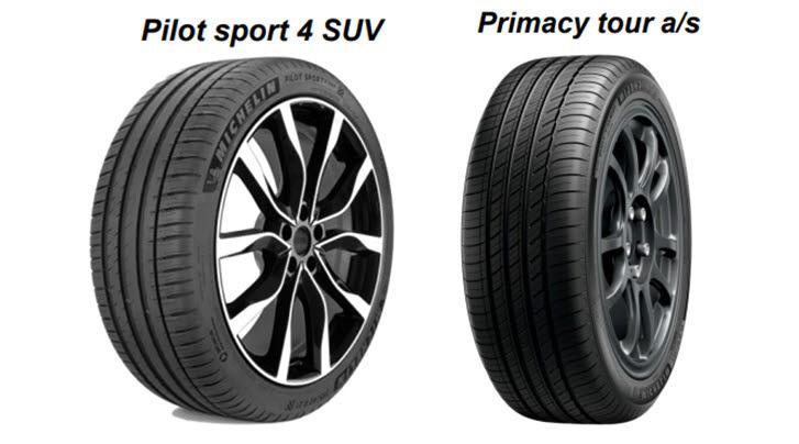 제네시스 GV70에 공급하는 미쉐린 파일럿 스포츠 4 SUV와 프라이머시 투어 제품.
