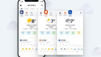 네이버, 날씨 예보 서비스 강화...글로벌 업체 데이터 제공