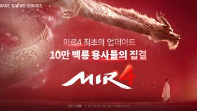 위메이드, '미르4' 10만 백룡 용사의 집결 업데이트 실시