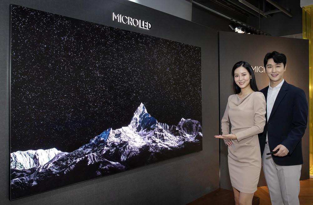 삼성전자, 1억7000만원 '마이크로 LED TV' 첫선