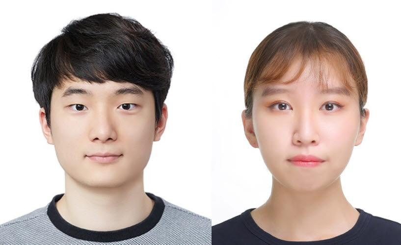 왼쪽부터 GIST 학부생 임수환씨와 이윤지씨.