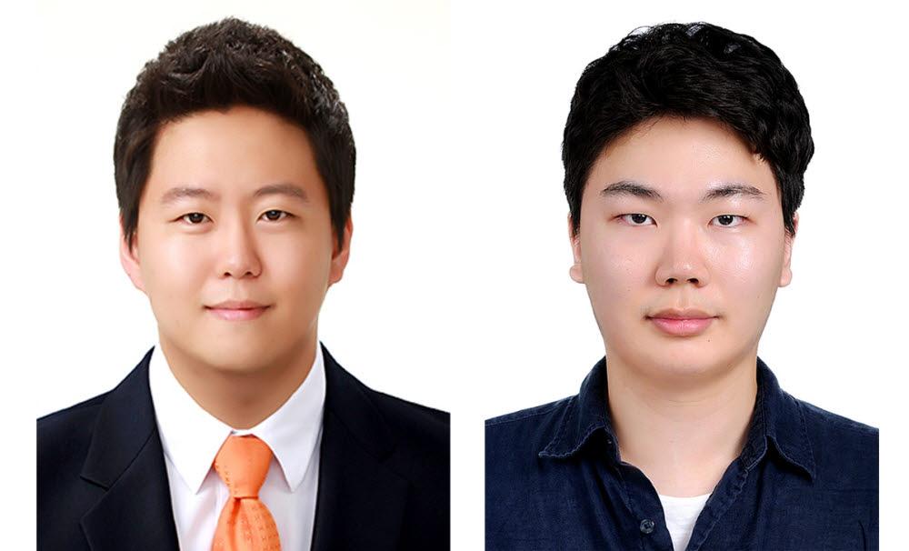 숭실대 AI보안연구센터 소속 대학원생 송희망(사진 왼쪽), 설종운씨