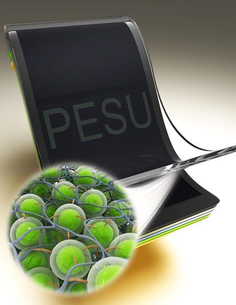 성균관대와 바스프가 협력해 개발한 OLED용 플라스틱 유연 기판 소재 (사진=성균관대)