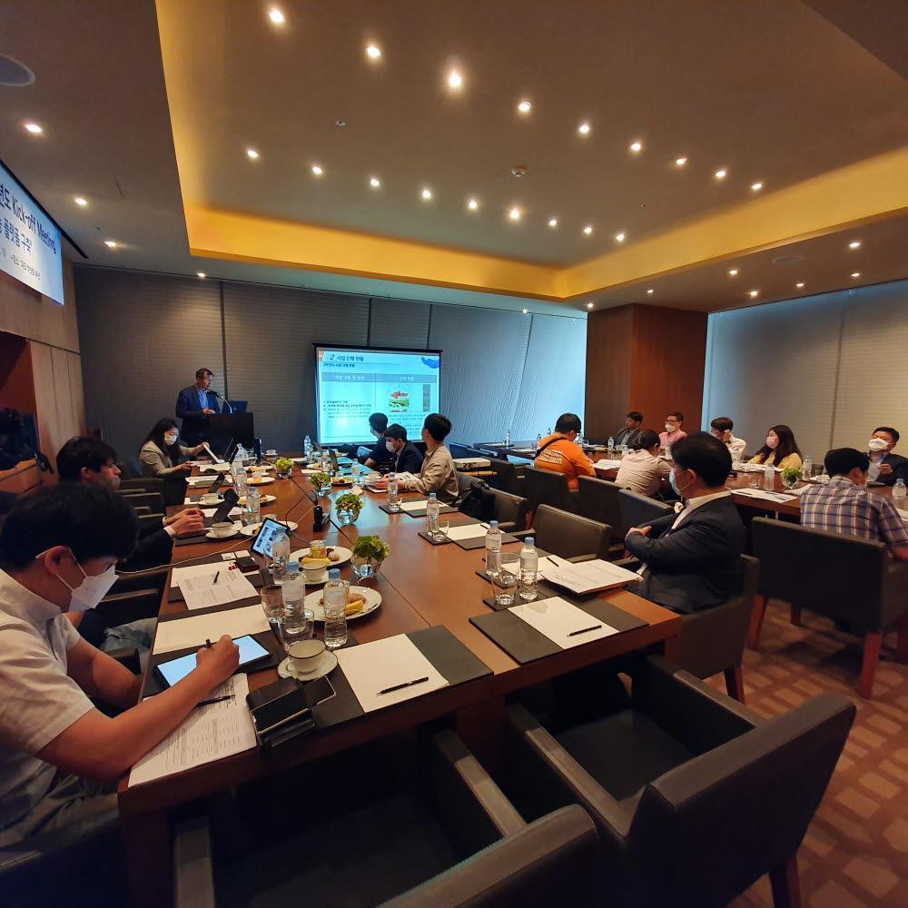 KOMERI가 상반기 개최한 부산국가혁신클러스터 R&D사업 3차년도 킥오프 미팅.