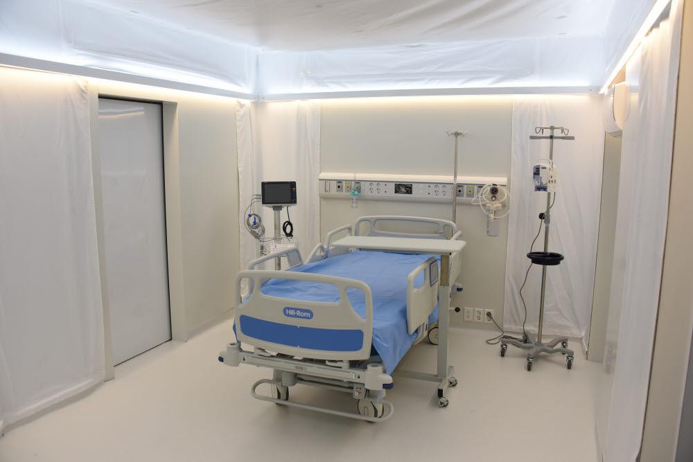 음압병실 내부 모습