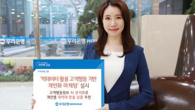 우리은행, 빅데이터 활용 고객행동 기반 개인화 마케팅 실시