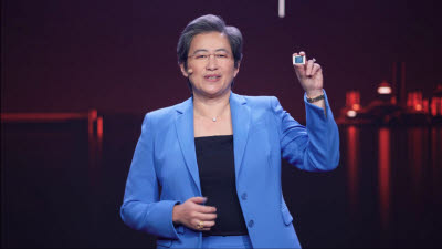 "[CES 2021]리사 수 AMD CEO, 노트북·서버 프로세서 공개...""서버 CPU 경쟁사보다 68% 나아"""