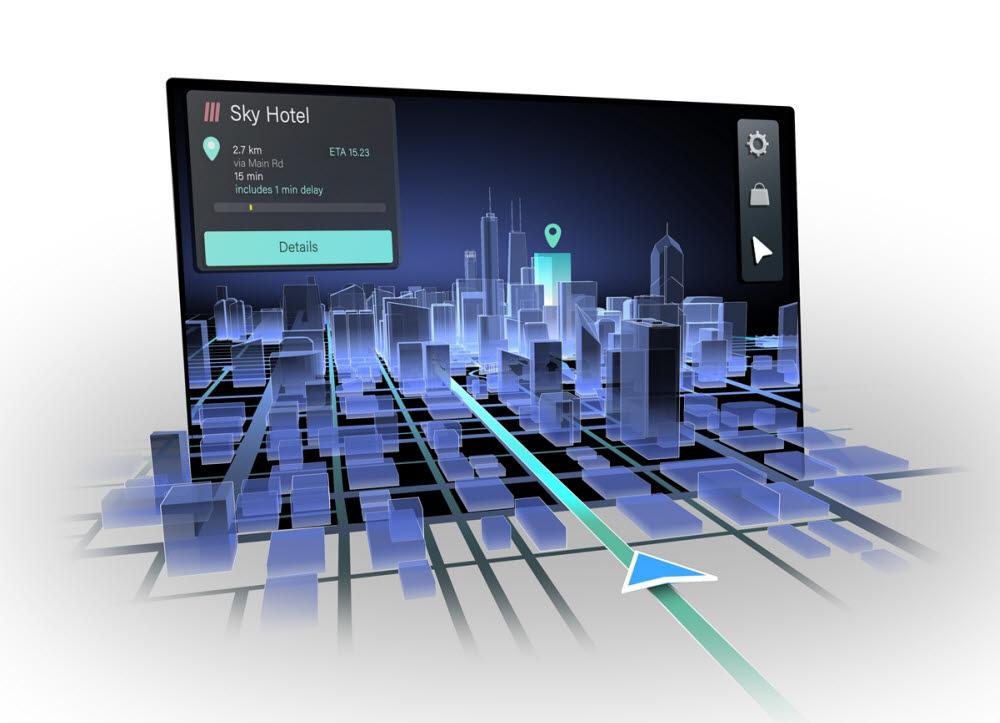 콘티넨탈이 히어, 레이아와 공동 개발하는 3D 내비게이션 솔루션.