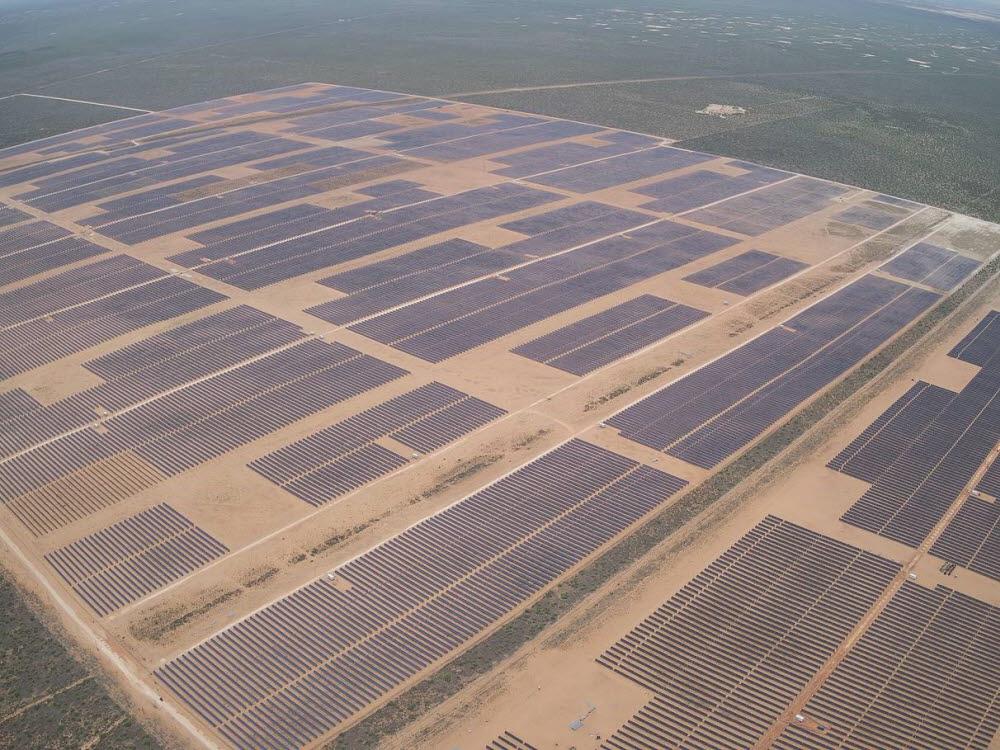 한화에너지(174파워글로벌)가 개발해 운영 중인 미국 텍사스주 태양광발전소. [자료:한화에너지]