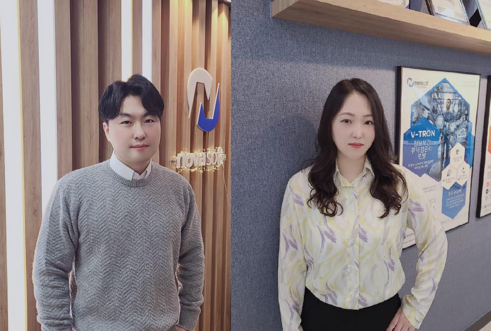 김용석 본부장과 김은진 팀장(왼쪽부터)
