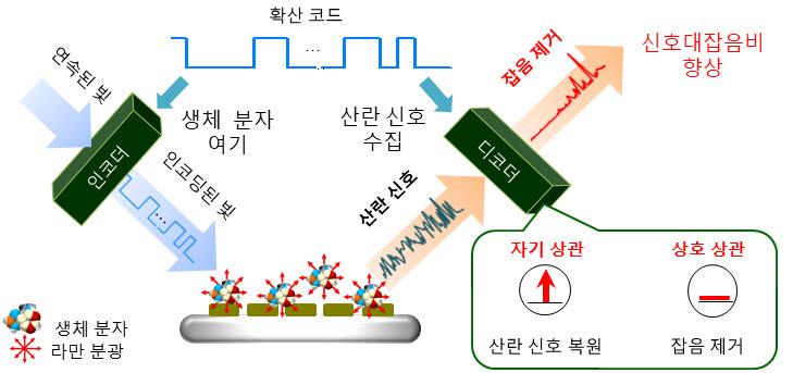 대역확산 라만분광 기술 개념도