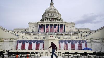 바이든 취임식 준비 한창인 미 연방의회 의사당