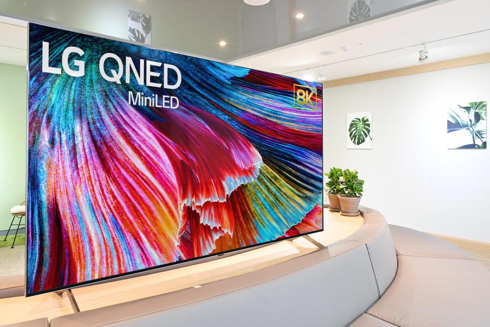 1분기 출시 예정인 LG전자 QNED 미니 LED TV
