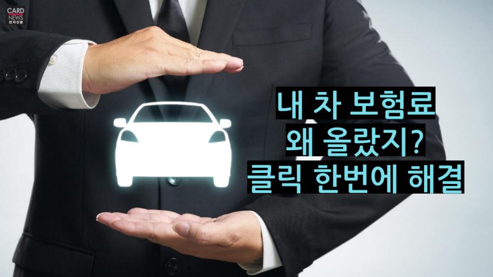 [카드뉴스]내 차 보험료 왜 올랐지? 클릭 한번에 해결
