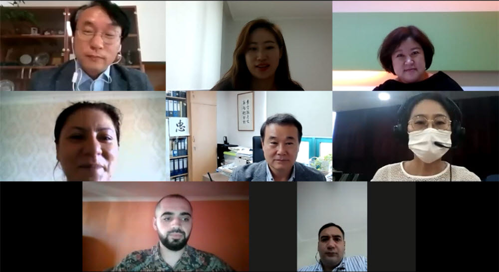 지난해 9월 3~4일 진행한 아제르바이잔 온라인 워크숍 모습.