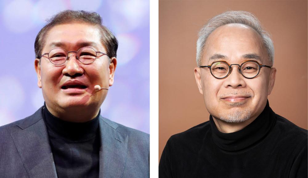 한종희 삼성전자 사장(왼쪽)과 최주선 삼성디스플레이 사장