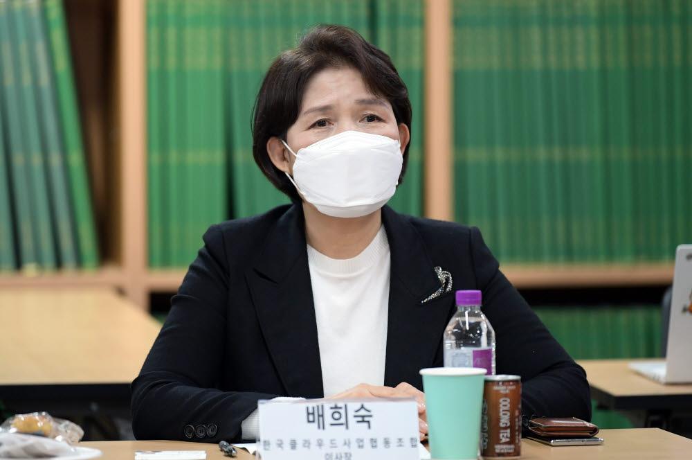 배희숙 한국클라우드사업협동조합 이사장. 이동근기자 foto@etnews.com