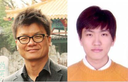 송창용 포스텍 물리학과 교수(왼쪽)와 조도형 씨