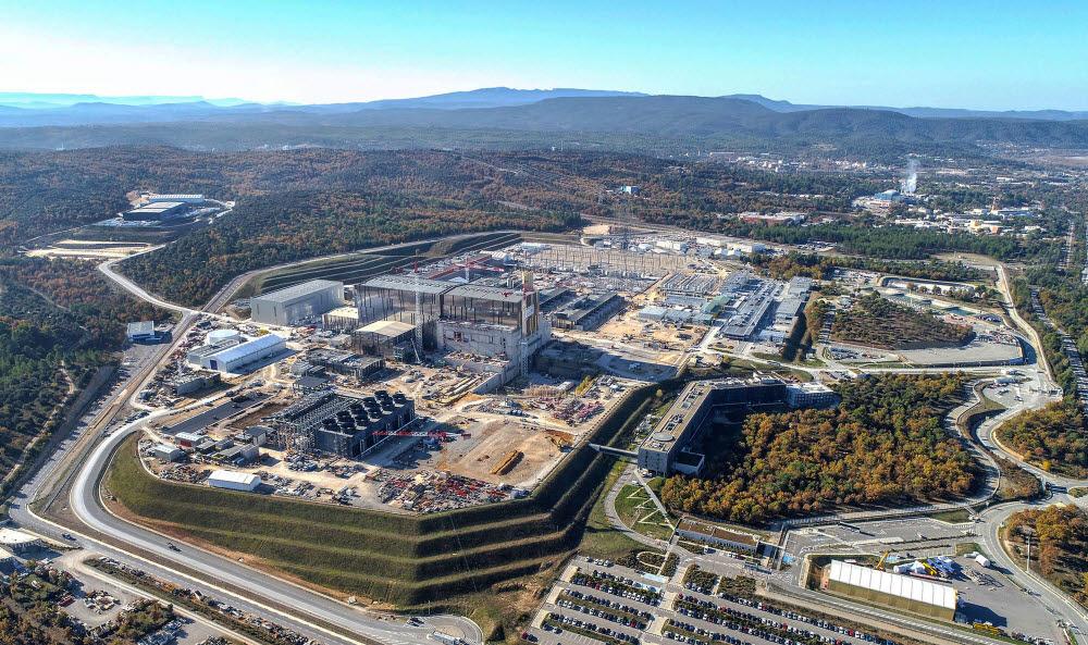 ITER 건설현장 모습. 사진출처=한국핵융합에너지연구원