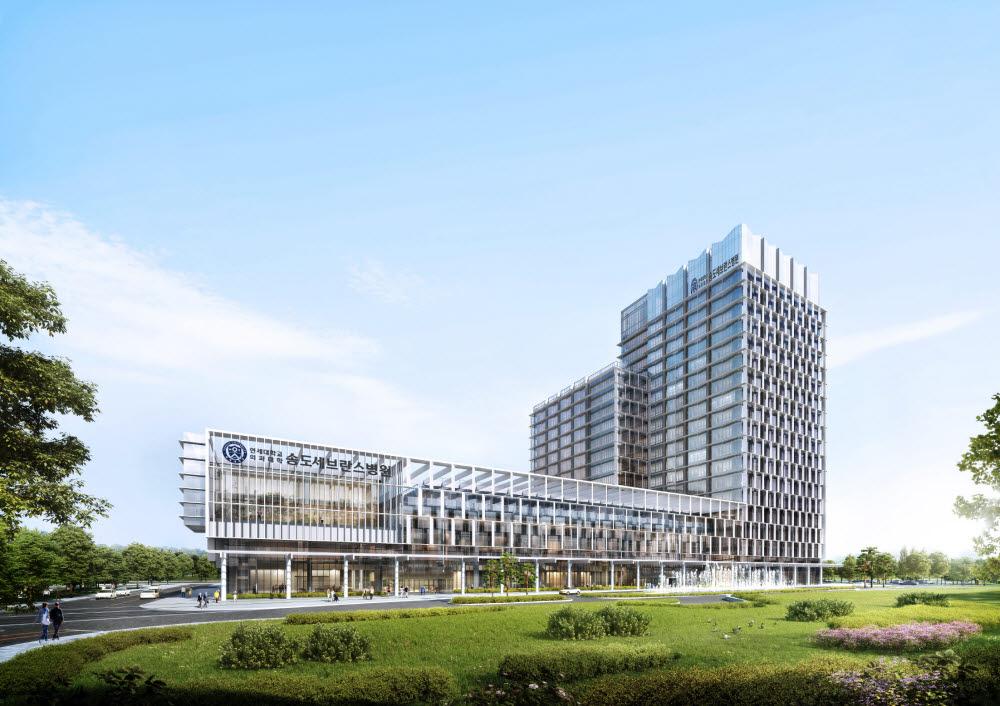 2026년 개원 예정인 송도세브란스병원 조감도 (사진=연세의료원)