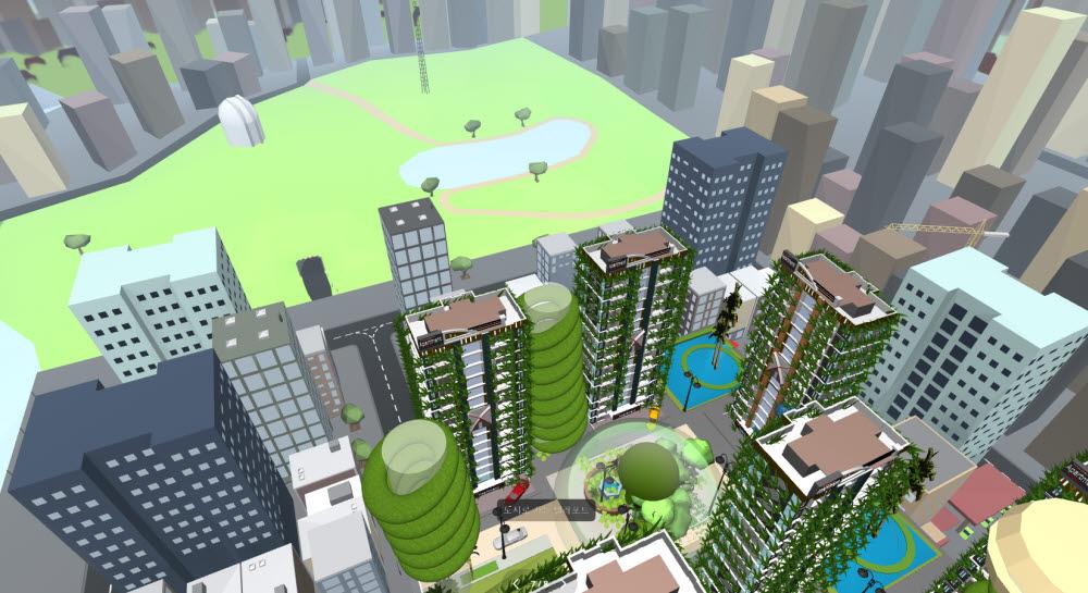우수상을 수상한 황찬우 학생의 2050 친환경 역사문화도시 작품 일부