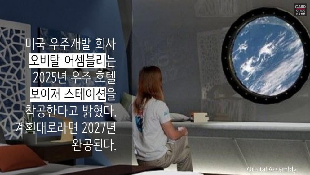 [카드뉴스]우주 호텔서 즐기는 지구뷰 호캉스
