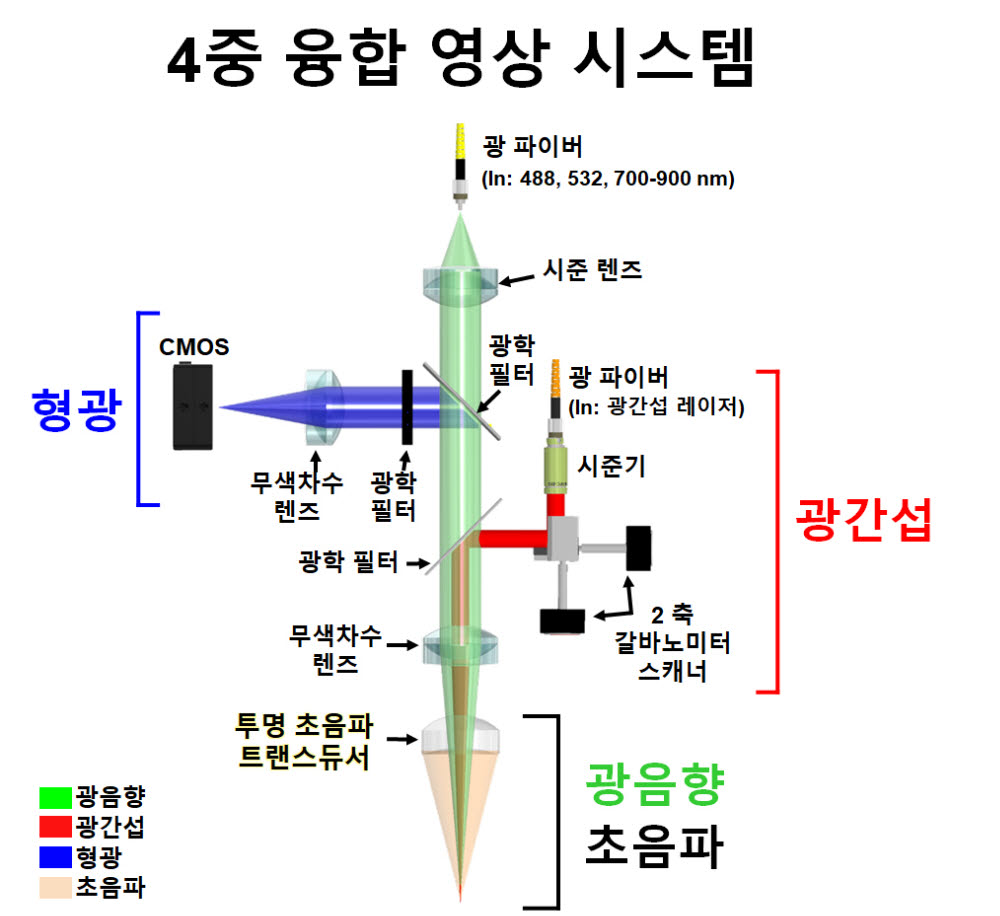 4중융합영상시스템 모식도