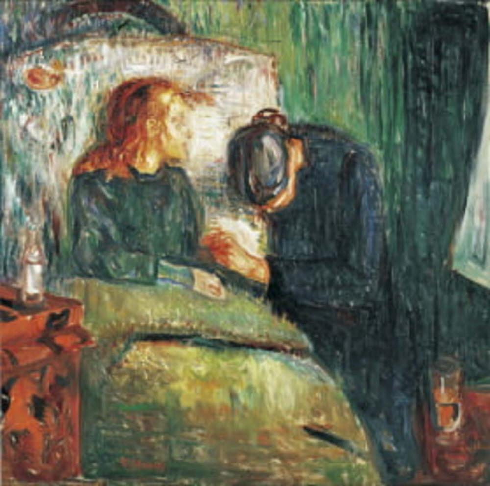 결핵으로 죽은 누나를 그린 뭉크의 <아픈 아이>. 결핵이라는 질병은 오래전부터 인류와 함께 했고, 예술가들의 주목을 받았다. (출처: wikipedia)