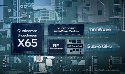 퀄컴 스냅드래곤 X65 5G 모뎀과 RF.<사진=퀄컴>