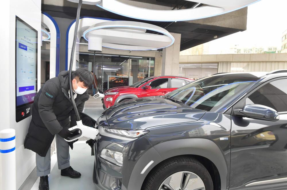 현대차그룹이 자체 예산을 투입해 운영 중인 현대 EV 스테이션 강동.