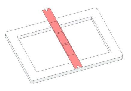 긴 띠 모양의 FMM 스틱. 현재 OLED 디스플레이 제조에 가장 많이 쓰이고 있다.<자료=오럼머티리얼>