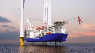 삼성중공업, 해상풍력발전기 설치선 독자 개발