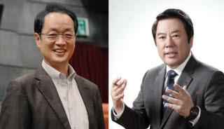차기 PP협의회장 후보 강신웅 티캐스트 대표(왼쪽)와 박준희 아이넷방송 회장.