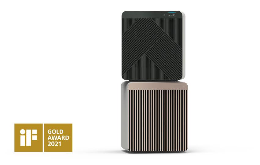 iF디자인 어워드에서 금상을 수상한 삼성전자 공기청정기 비스포크 큐브 에어