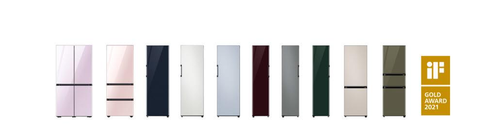 iF 디자인 어워드에서 금상을 수상한 삼성전자 비스포크 시티 컬러
