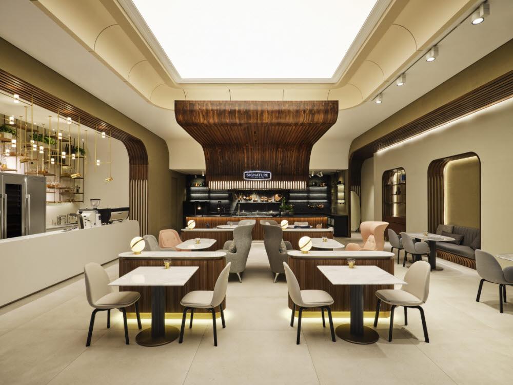 시그니처 키친 스위트 청담쇼룸 1층 카페