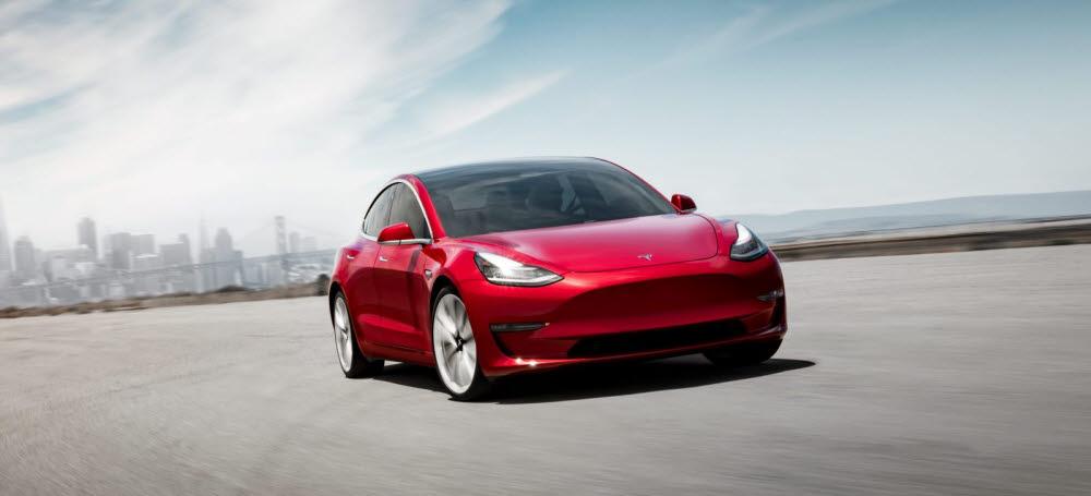 테슬라 전기차 모델3(자료: 테슬라)