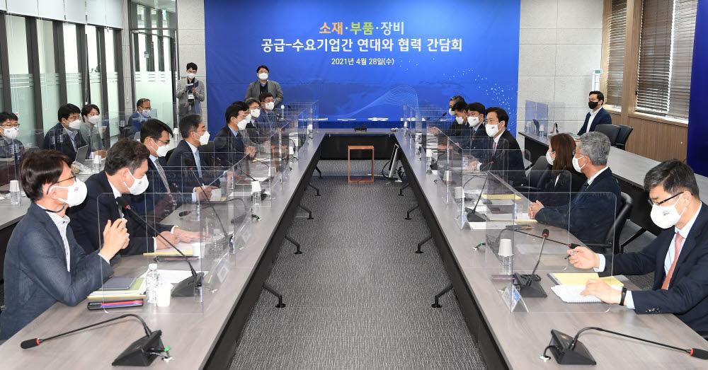 성윤모 산업통상자원부 장관이 인사말을 하고 있다.