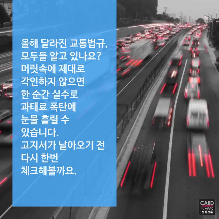 [카드뉴스]달라진 교통법규 체크하세요