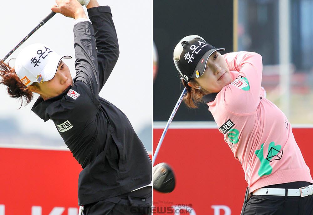 휴온스 골프단의 최민경, 김소이.