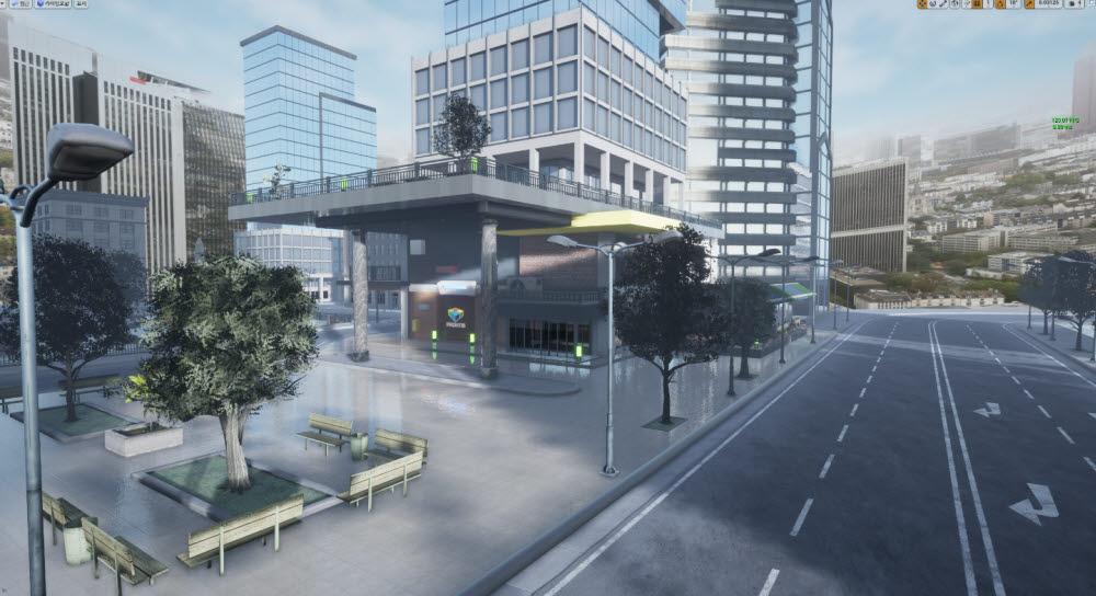 프론티스가 개발 중인 메타버스 가상 도시