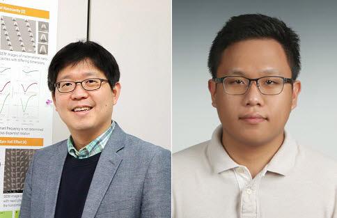 메타물질 기반 초정밀 라이다장치를 개발한 포스텍 노준석 교수(왼쪽)와 김인기 박사.